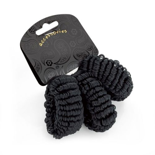 Black Soft Looped Hair Ponios Bobbles
